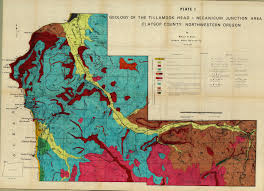 Tillamook Oregon Map by Geology Of The Tillamook Head Necanicum Junction Area Clatsop