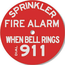 bell rings red images Sprinkler fire alarm when bell rings dial 911 sign seton seton jpg