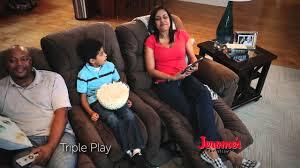 Triple Recliner Sofa by Jerome U0027s 799 Triple Play Power Reclining Sofa Youtube