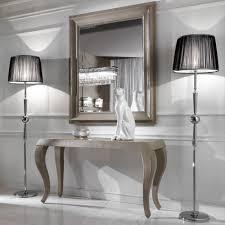 console table and mirror set italian alligator embossed pattern leather console and mirror set