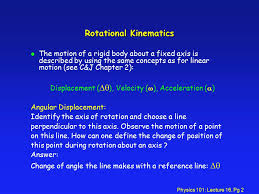 physics 101 lecture 16 pg 1 physics 101 lecture 16 rotational