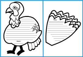 turkey writing templates happy thanksgiving
