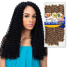 pre twisted crochet hair amazon com freetress synthetic hair braids 3x pre loop crochet