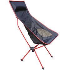 Big Beach Chair Red Traveling Light Line Folding Chair Armchair Outdoor Leisure