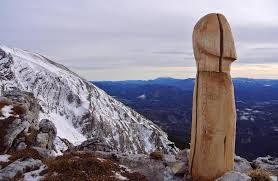 someone erected a wooden in the austrian alps and nobody