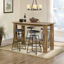 Tall Dining Room Sets Boone Mountain Counter Height Dinette Table 416698 Sauder