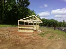 Loafing Shed Plans Horse Shelter by Mkm Srj Llc Loafing Shed Construction