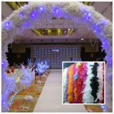 wholesale feather wedding decorations 2m long boa fluffy craft