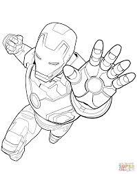 coloring iron coloring pages trendy man color avengers