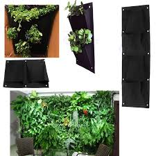 indoor outdoor wall balcony herbs garden hanging planter bag plant