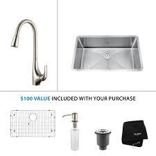 kitchen sink with faucet set stainless steel kitchen sink combination kraususa