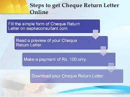cheque return letter
