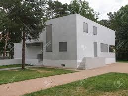dessau germany june 13 2014 bauhaus masters houses designed