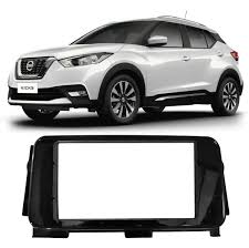 nissan kicks 2017 black moldura painel radio dvd 2din nissan kicks black piano r 140