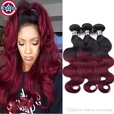 best human hair extensions cheap ombre burgundy human hair extensions 1b 99j ombre