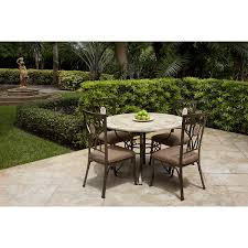 Round Stone Patio Table by Round Stone Table U0026 4 Chairs