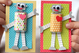 Valentine S Day Homemade Gift Ideas by Valentine U0027s Day Ideas Make These Adorable Diy Robot Cards Huffpost