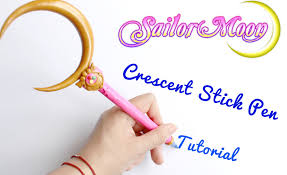 sailor moon crescent stick pen polymer clay tutorial 美少女戦士