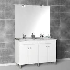 miroir avec applique meuble de salle de bain pas cher double vasque galerie avec miroir