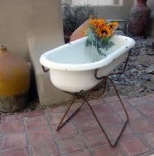 Antique Galvanized Bathtub Baby Bathtub Stand Foter