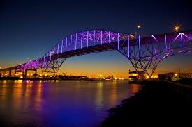 new philips led lighting system on corpus christi harbor bridge