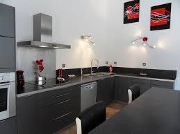 cuisines grises cuisine grise avec plan de travail noir cuisine 20gris 20perle
