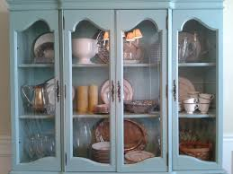 how to arrange dishes in china cabinet before and after the craigslist china cabinet goes blue