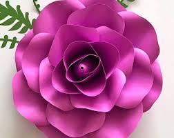 svg petal 39 rose paper flower template digital version