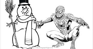 100 ideas spiderman christmas coloring pages www