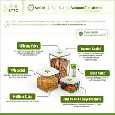 amazon com seal u0027in food storage vacuum containers with
