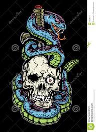 snake skull and dagger stock vector illustration of