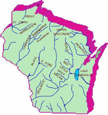Wisconsin rivers images Wisconsin river map jpg