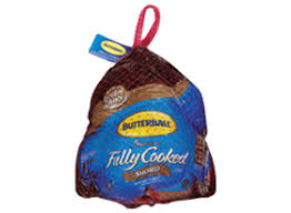 frozen fully cooked baked turkey butterball