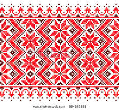 ukraine pattern vector embroidered good like old handmade crossstitch stock photo photo