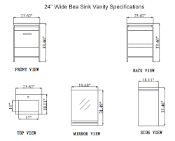 24 inch bea vanity space saving vanity contemporary sink cabinet