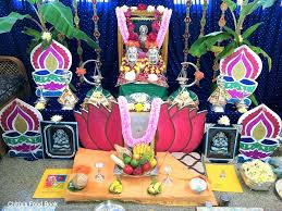 home decoration of ganesh festival varalakshmi vratham pooja procedure puja vidhanam chitra u0027s food book