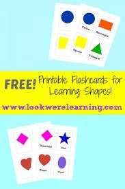 free printable flashcards shape look we u0027re learning
