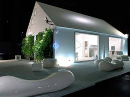 Home Design Themes Architecture Dazzling Futuristic Home Design Featuring Ivory