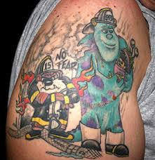 firefighter characters tattoos and com