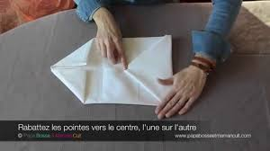 Pliage De Serviette En Tissu Simple by Pliage Serviettes Le Pliage De Serviette En Pochette Avec Ou