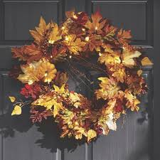 Thanksgiving Outdoor Decorations Lighted Lighted Fall Wreath Country Door Catalog Pinterest Wreaths