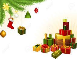 christmas corner background elements christmas tree balls and