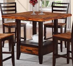 pub dining set kenneth square pub table with led lights dining