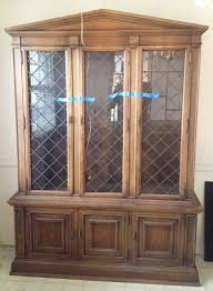 french country china cabinet for sale drexel french country china cabinet vintage mid century walnut hutch