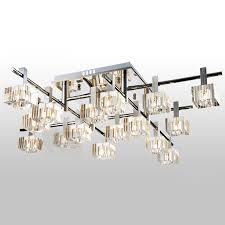 European Ceiling Lights Modern Luxury Striated Square Living Room Ceiling Lights