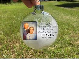 memorial christmas ornaments personalized christmas ornaments photo christmas