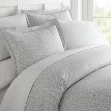 Linen Covers Gray Print Pillows White Walls Grey King Size Duvet Covers For Less Overstock