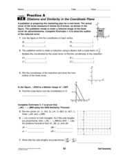 dilations and similarity 8th 10th grade worksheet lesson planet