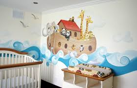 chambre noe noah s ark baby version arche de noé version bébé murale