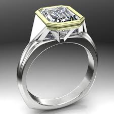 deco engagement ring deco luxury 2 5 ct diamond ring emerald cut